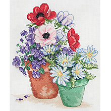 Buy Anchor Flowers In Pot Cross Stitch Kit Online at johnlewis.com
