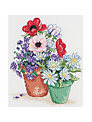 Anchor Flowers In Pot Cross Stitch Kit