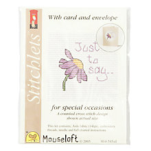 Buy Mouseloft Just to Say Cross Stitch Kit with Card and Envelope Online at johnlewis.com