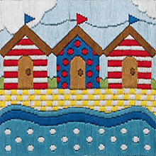 Buy Anchor Beach Huts Embroidery Kit Online at johnlewis.com
