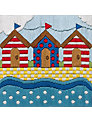 Anchor Beach Huts Embroidery Kit