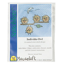 Buy Mouseloft Invidu-Owl Cross Stitch Kit Online at johnlewis.com
