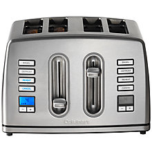 Buy Cuisinart CPT445U Digital 4-Slice Toaster, Silver Online at johnlewis.com