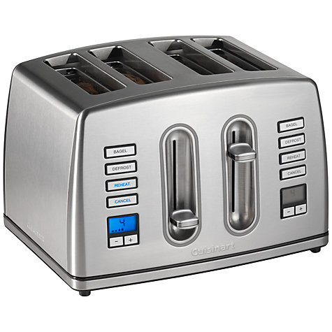Buy Cuisinart CPT445U 4-Slice Toaster, Silver Online at johnlewis.com