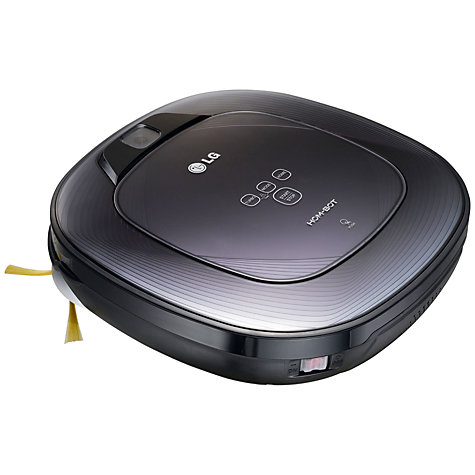 Buy LG HOM-BOT SQUARE VR62701LVMB Robot Vacuum Cleaner, Black Online at johnlewis.com