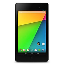 "Buy Google Nexus 7 (2013) Tablet, Qualcomm Snapdragon S4, Android, 7"", NFC, Wi-Fi, 16GB, Black Online at johnlewis.com"