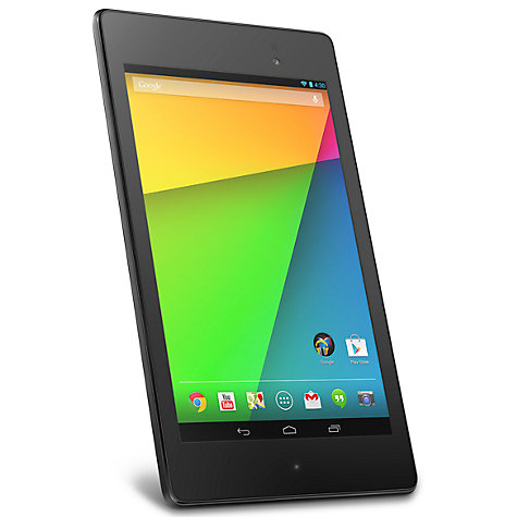 "Buy New Google Nexus 7 Tablet, Qualcomm Snapdragon S4, Android, 7"", NFC, Wi-Fi, 16GB, Black Online at johnlewis.com"