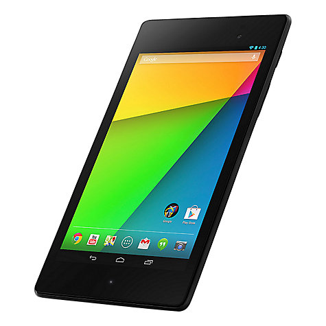 "Buy New Google Nexus 7 Tablet, Qualcomm Snapdragon S4, Android, 7"", NFC, Wi-Fi & 4G LTE, 32GB, Black Online at johnlewis.com"