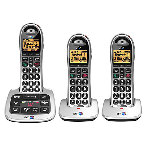 Buy BT 4500 Big Button Digital Cordless Telephone and Answering Machine with Nuisance Call Control, Trio DECT Online at johnlewis.com