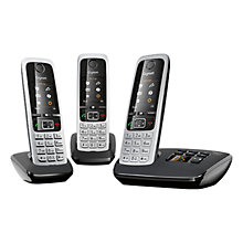 Buy Gigaset C430A Digital Cordless Telephone and Answer Machine, Trio DECT Online at johnlewis.com