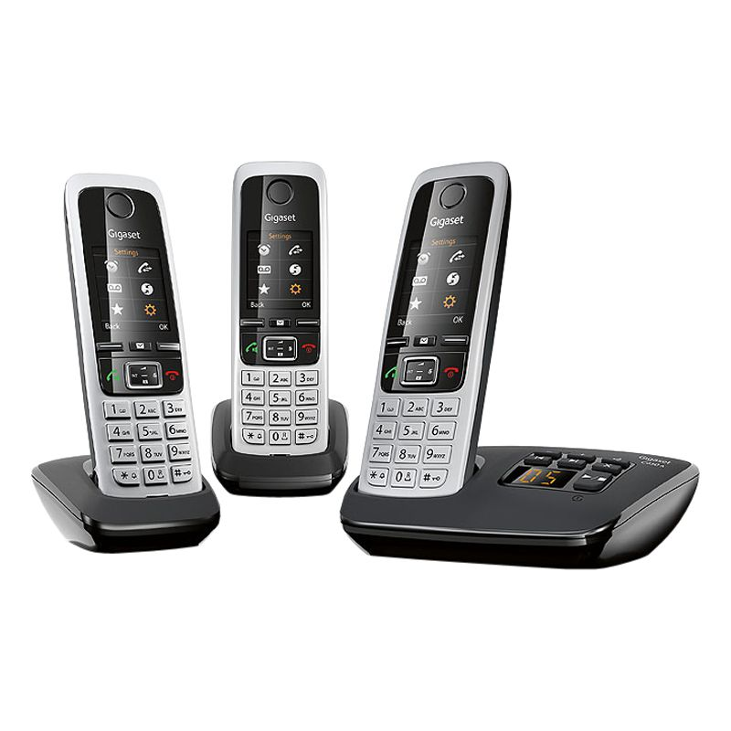 Gigaset Gigaset C430A Digital Cordless Telephone and Answer Machine, Trio DECT