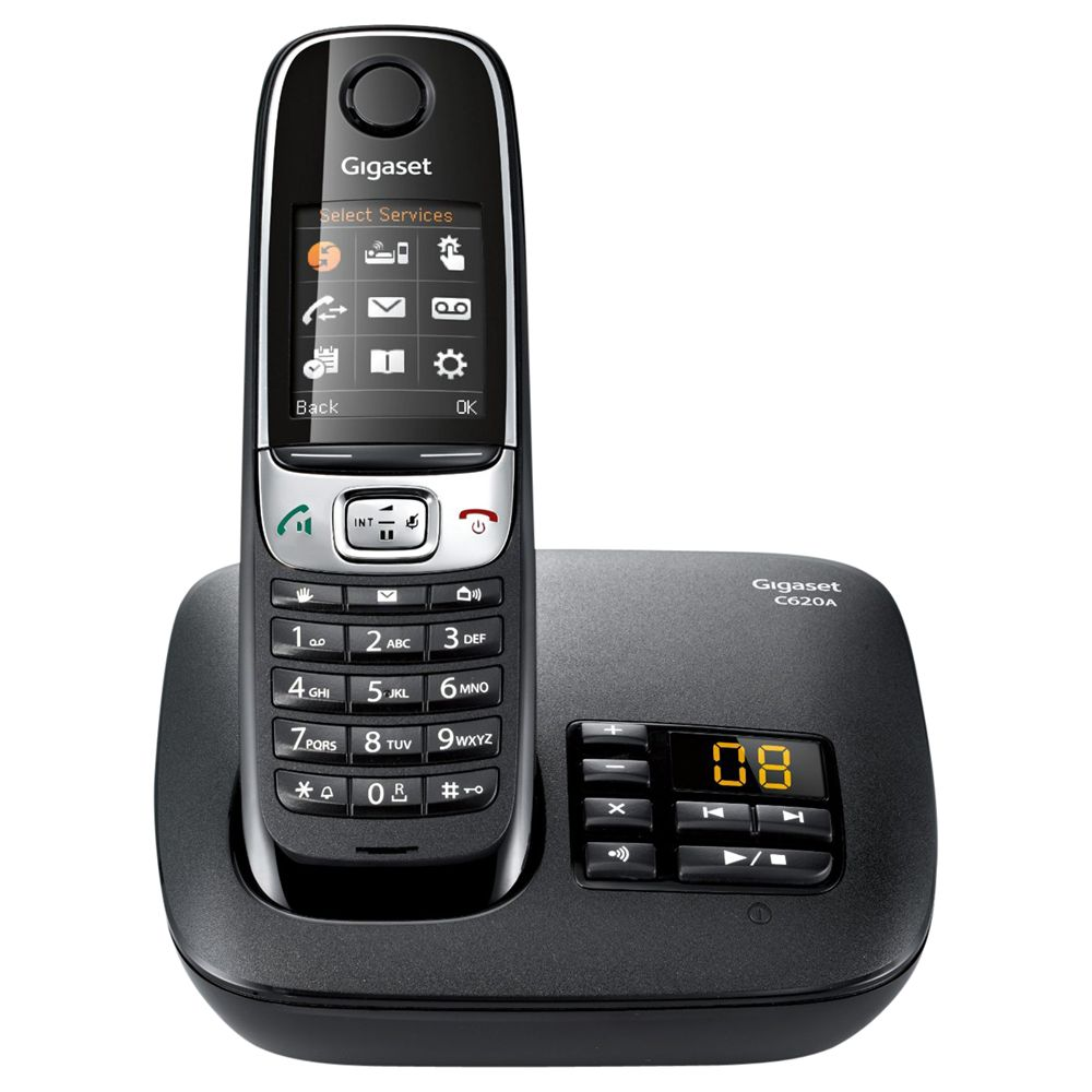 Gigaset Gigaset C620A Digital Telephone and Answer Machine, Single DECT