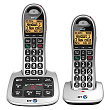 Buy BT 4500 Big Button Digital Cordless Telephone and Answering Machine with Nuisance Call Control, Twin DECT Online at johnlewis.com