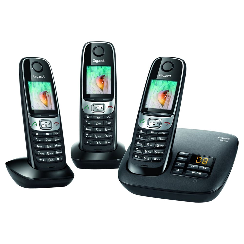 Gigaset Gigaset C620A Digital Telephone and Answer Machine, Trio DECT