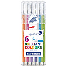 Buy Staedtler Triplus Ballpoint Pens, Pack of 6 Online at johnlewis.com
