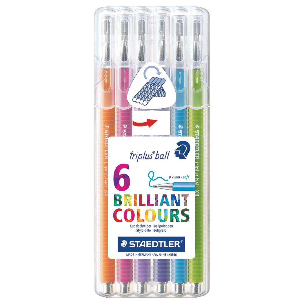 Staedtler Staedtler Triplus Ballpoint Pens, Pack of 6