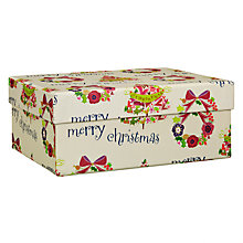 Buy Belly Button Merry Christmas Gift Box, Medium Online at johnlewis.com