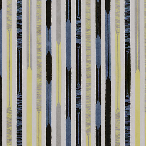 Buy Sanderson Kandinsky Woven Velvet Fabric, Blue/Silver, Price Band F Online at johnlewis.com