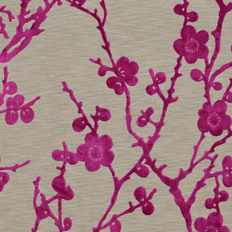 Buy Harlequin Juniper Blossom Woven Velvet Fabric, Magenta, Price Band H Online at johnlewis.com