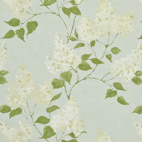 Buy Sanderson Lilacs Woven Print Fabric, Duck Egg, Price Band E Online at johnlewis.com
