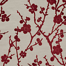 Buy Harlequin Juniper Blossom Woven Velvet Fabric, Terracotta, Price Band H Online at johnlewis.com