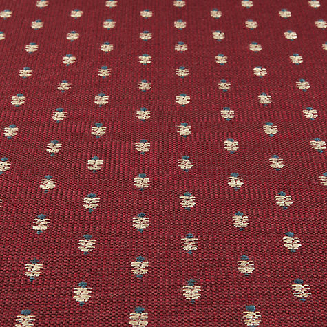 Buy Sanderson Lydham Woven Motif Fabric, Claret, Price Band F Online at johnlewis.com