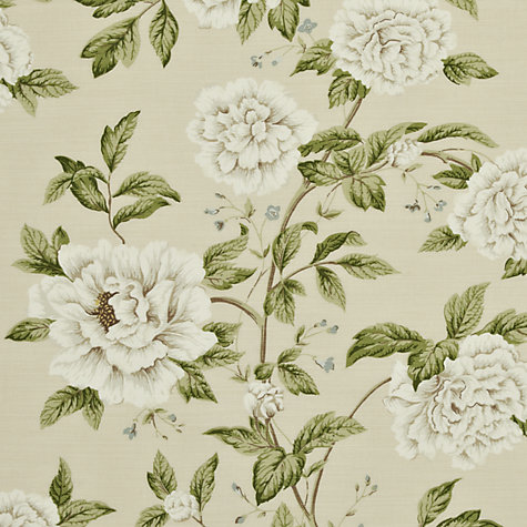 Buy Sanderson Peony Tree Woven Print Fabric, Neutral/Duck Egg, Price Band F Online at johnlewis.com