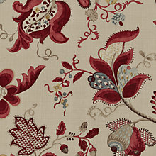 Buy Sanderson Roslyn Woven Print Fabric, Berry/Slate, Price Band G Online at johnlewis.com