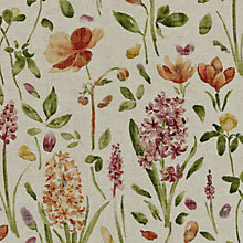 Buy Sanderson Spring Flowers Woven Print Fabric, Wine/Paprika, Price Band E Online at johnlewis.com