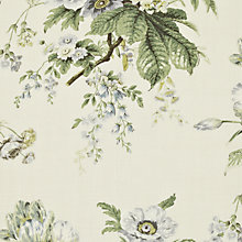 Buy Sanderson Tournier Woven Print Fabric, Silver/Cream, Price Band F Online at johnlewis.com
