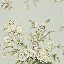 Buy Sanderson Tournier Woven Print Fabric, Silver/Eggshell, Price Band F Online at johnlewis.com