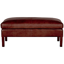 Buy Halo Groucho Leather Footstool Online at johnlewis.com
