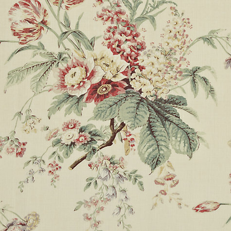Buy Sanderson Tournier Woven Print Fabric, Strawberry/Cream, Price Band F Online at johnlewis.com