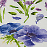 Buy Sanderson Spring Flowers Woven Print Fabric, Hyacinth, Price Band E Online at johnlewis.com