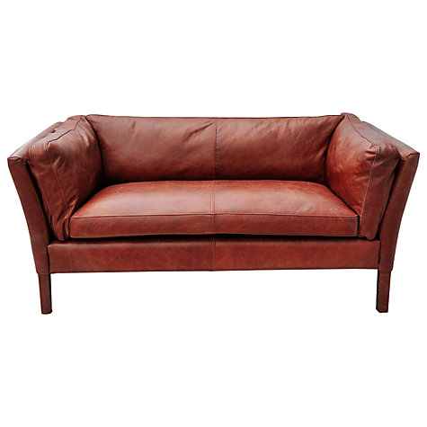 Buy Halo Groucho Small Leather Sofa John Lewis