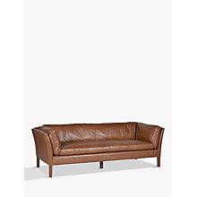 Buy Halo Groucho Large Sofa, Old Saddle Nut Walnut Online at johnlewis.com