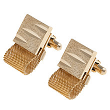 Buy Eclectica Gold Plated Mesh Diamond Cut Cufflinks Online at johnlewis.com