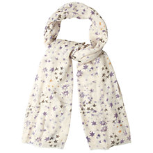Buy White Stuff Whitely Star Print Scarf, Off White Online at johnlewis.com