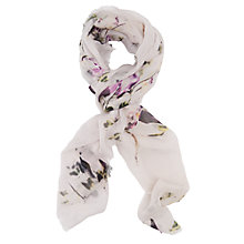 Buy French Connection White Water Flower Scarf, White Online at johnlewis.com