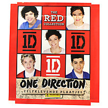 Buy One Direction Red Collection Stickers, Pack of 5 Online at johnlewis.com