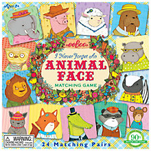 Buy Eeboo I Never Forget An Animal Face Matching Game Online at johnlewis.com