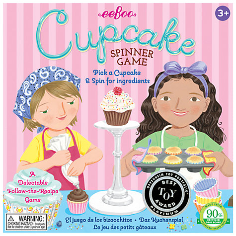 Buy Eeboo The Cupcake Spinner Game Online at johnlewis.com