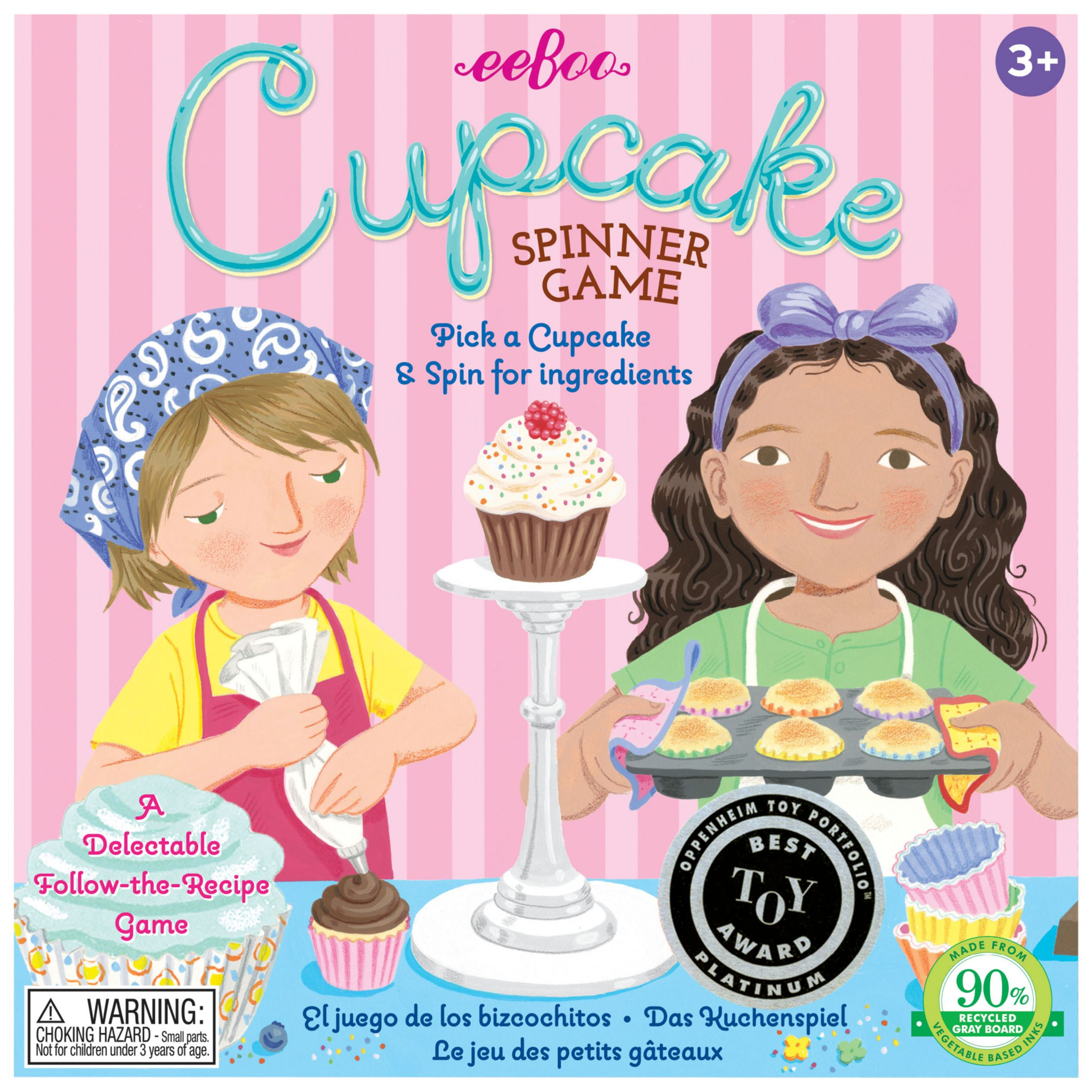 Eeboo Eeboo The Cupcake Spinner Game