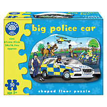 Buy Orchard Toys Big Police Car Floor Puzzle Online at johnlewis.com