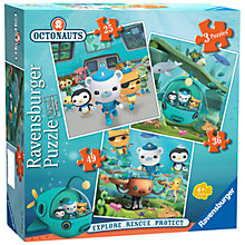 Buy Ravensburger Octonauts Jigsaw Puzzles, Pack of 3 Online at johnlewis.com