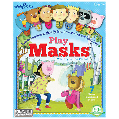 Buy Eeboo Mystery in the Forest Play Masks Online at johnlewis.com