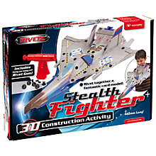Buy Interplay Rivetz Stealth Fighter Card Sculpture Set Online at johnlewis.com