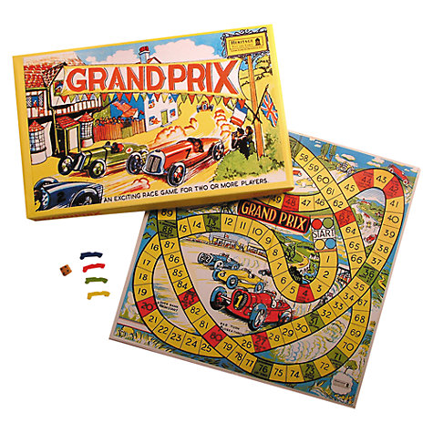 Buy House of Marbles Grand Prix Race Vintage Style Board Game Online at johnlewis.com