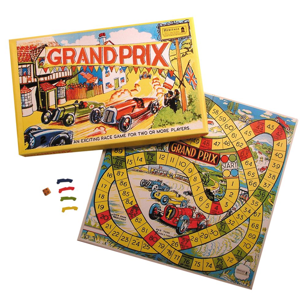 House of Marbles House of Marbles Grand Prix Race Vintage Style Board Game