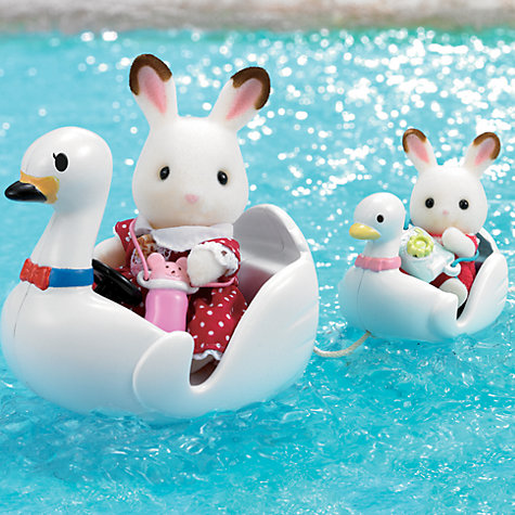 Buy Sylvanian Families Swan Boat Set Online at johnlewis.com